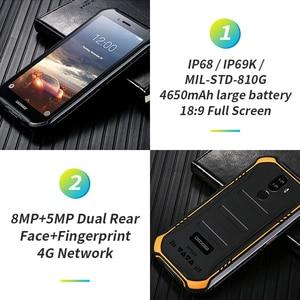 "Image 3 - 3GB+32GB DOOGEE S40 5.5"" HD 4G Network Rugged Mobile Phone IP68 Waterproof 4650mAh 8MP MT6739 Android 9.0 Pie Smartphone"