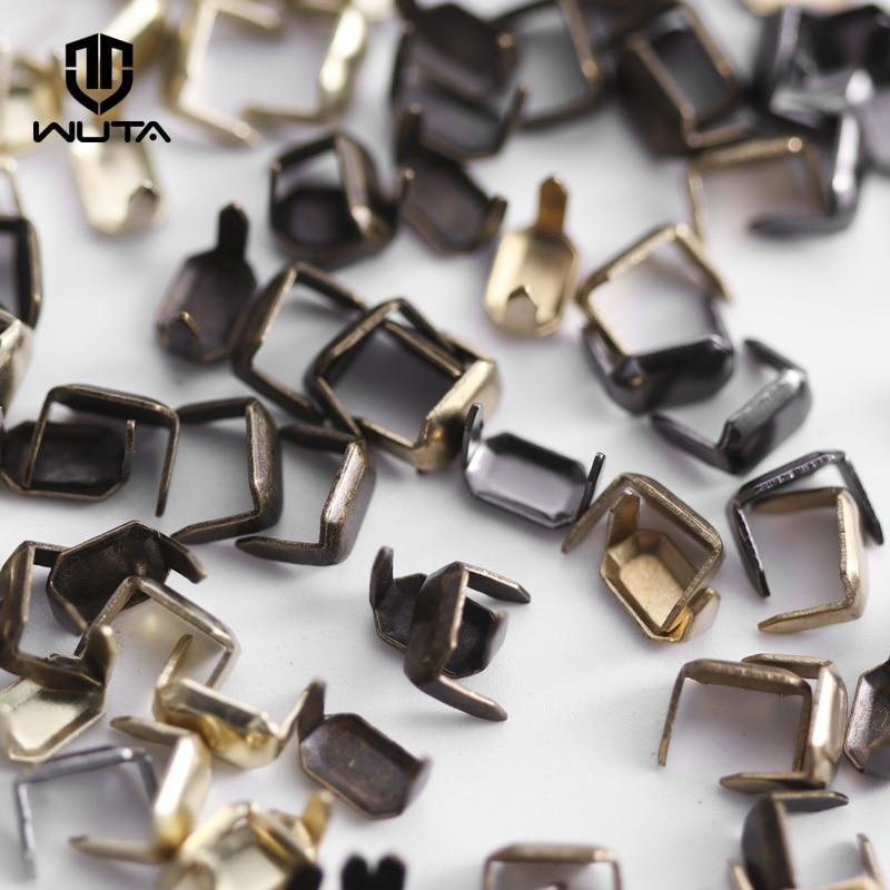 WUTA 40 Set Solid Brass Leather Staples Copper Belt Loops Fastener Holder Strips Connector Holder Belt Clip Keeper Leathercraft