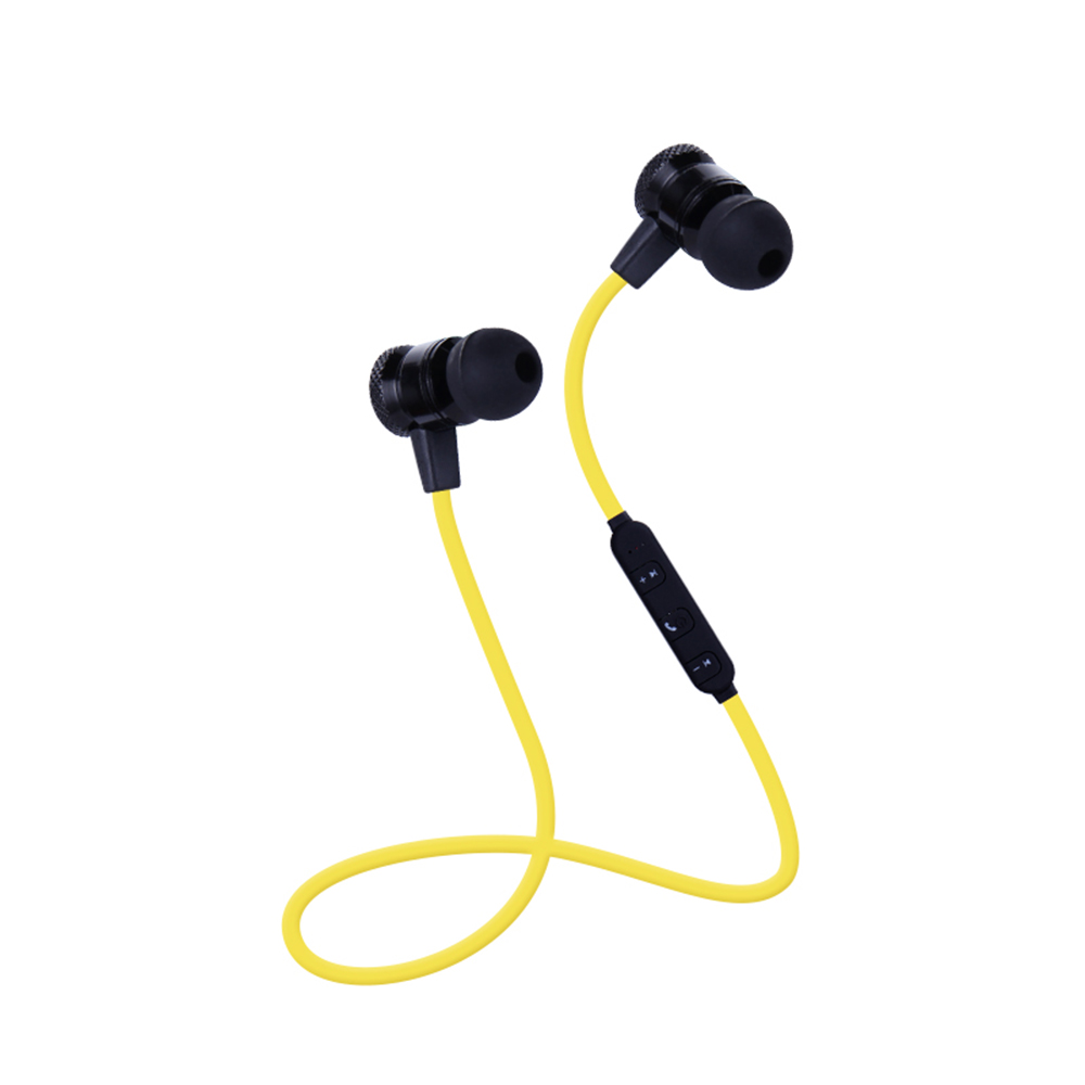 Magnet Metal Sports Bluetooth Earphone Wireless Earbud Stereo Headset With Mic for iphone and Samsung