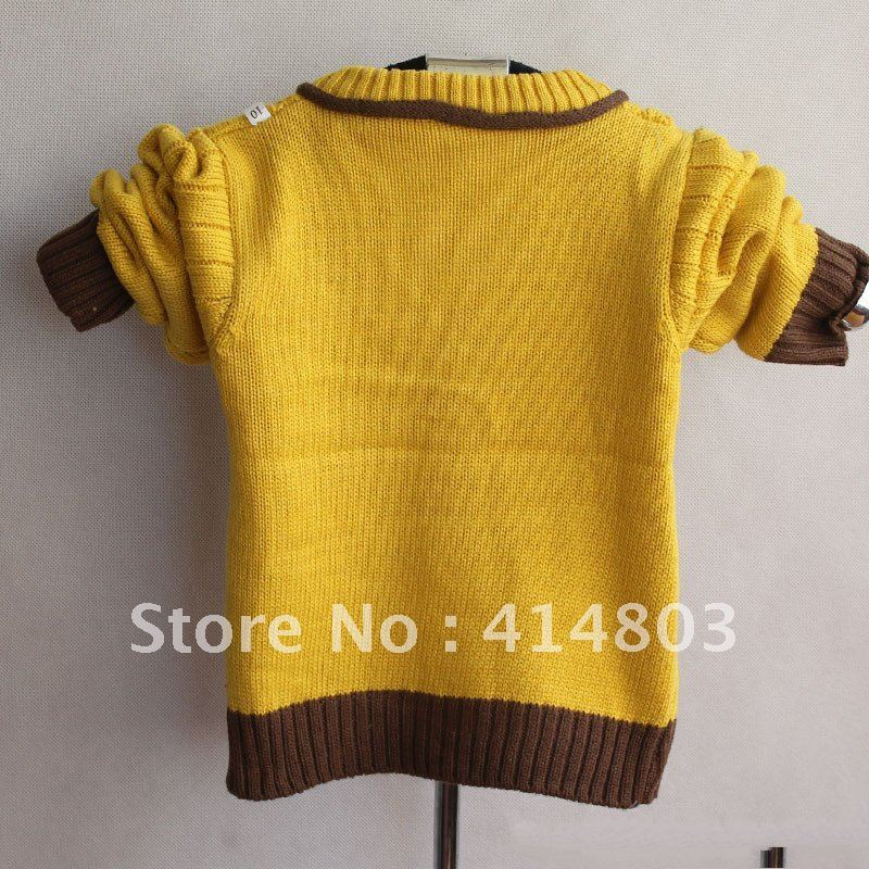 9eea1a6c9 3pcs  3 Colors Wholesale Kids Knitted Green Bear Cardigan Sweater ...