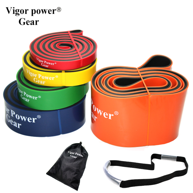 7pieces Dual Color Resistance Bands Pull Up Fitness Band