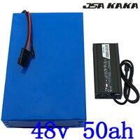 48 в 1000 Вт 1500 Вт 2000 Вт Батарея 48 В Электрический велосипед батарея 48 В 50AH аккумулятора электроскутера 48 В 50ah литиевая упаковка + 5A зарядное уст
