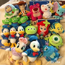 Brand New Original 8~12cm Toy Story Huggin Bear Dumbo Alien Plush Doll PP Cotton Figure Model Collectible Toy In Stock