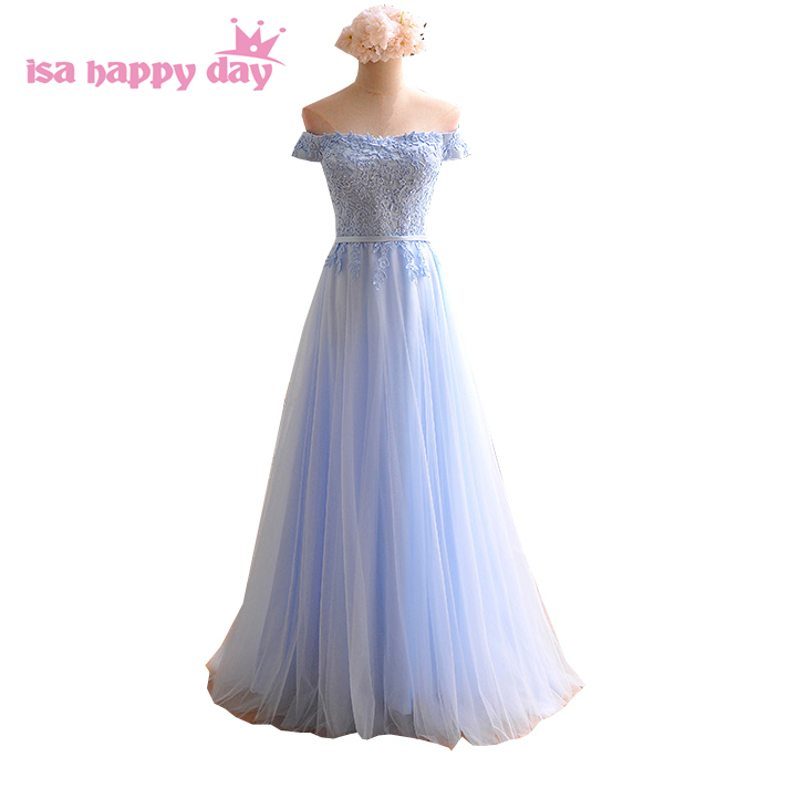Hot And Sexy New Dresses For Party Sky Blue Bridesmaids Fashinable Dress For Girls Bridemaid Dresses Ladies Under 100 B3933