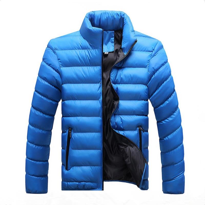 2018 Nuovi Uomini Di Inverno Di Colore Solido Del Collare Casual Imbottiture Vestito Di Cotone Gioventù Grande Formato Del Cappotto Di Marea Degli Uomini Di Abbigliamento Giacca Trapuntata