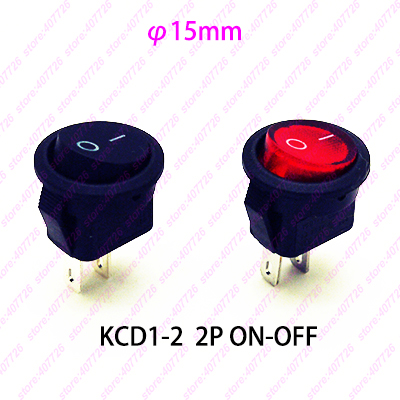 5PCS 15MM Small Round Black 2-Pin 2-Files 3A/250V 6A/125V Rocker Switch Seesaw Power Switch for Car Dash Dashboard Toys dfc seesaw se 01