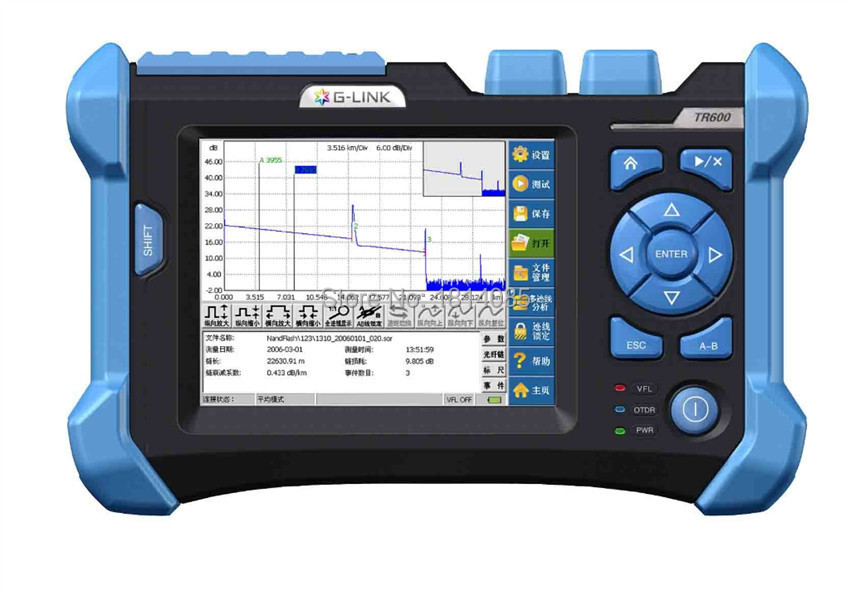 TR600 OTDR с 1310/1550nm расположение визуальная индикация Функция оптический Волокно OTDR связи Волокно тестирования оборудования