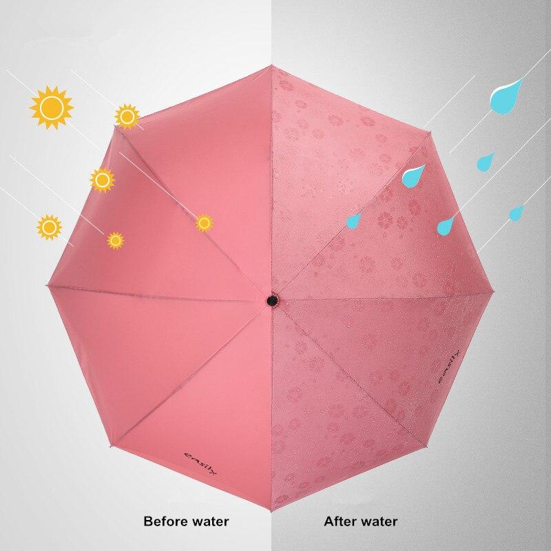 115 cm 2-3person auto ouvert c-crochet agrandir double couches inverse mains libres parapluie inversé eau fleur magique debout parasol - 4
