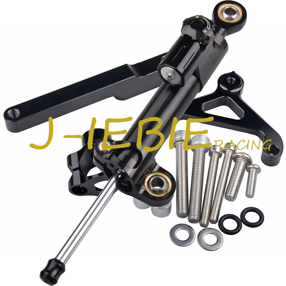 CNC Steering Damper Stabilizer and Black Bracket Mounting For Honda CB1000R CB1000 R 2008-2016 2009 2010 2011 2012 2013 2014 free shipping for honda cb400 vtec 1999 2010 motorcycle aluminium steering stabilizer damper mounting bracket kit