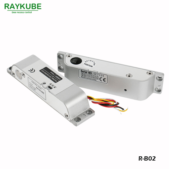 RAYKUBE Electric Bolt Lock For Door Access Control System Electronic Door lock R-B02