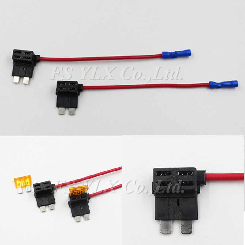 fuse box adapter fsylx 4pcs add a circuit standard blade fuse box holder dual  circuit standard blade fuse box holder