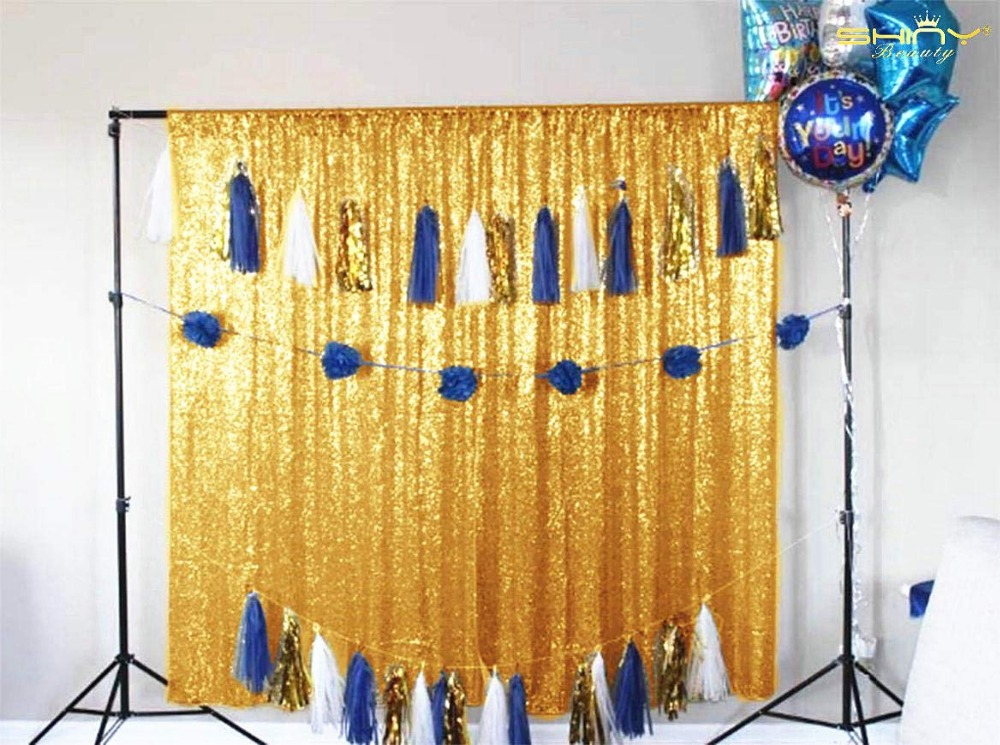 10FT*10FT White/Gold Sequin Backdrops,Party Wedding Photo Booth Backdrop Decoration,Sequin cur Birthday Party Decoration - 4