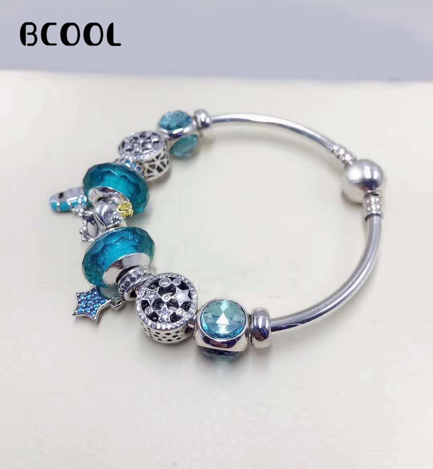 925 Sterling Silver Original Copy 1:1 Fashionable Silver Suitable For Women Marine Series Bracelet Crystal Beads Charm Jewelry925 Sterling Silver Original Copy 1:1 Fashionable Silver Suitable For Women Marine Series Bracelet Crystal Beads Charm Jewelry