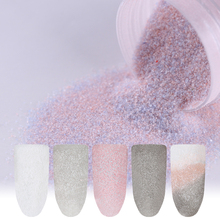 4 Boxes Mineral Sandy Nail Glitter Powder Dust Matte Light Color Pink Haze Series Nail Art Decoration