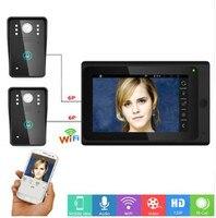 7 Polegada APP Controle Remoto WIFI Telefone Video Da Porta Campainha Intercom 1v2