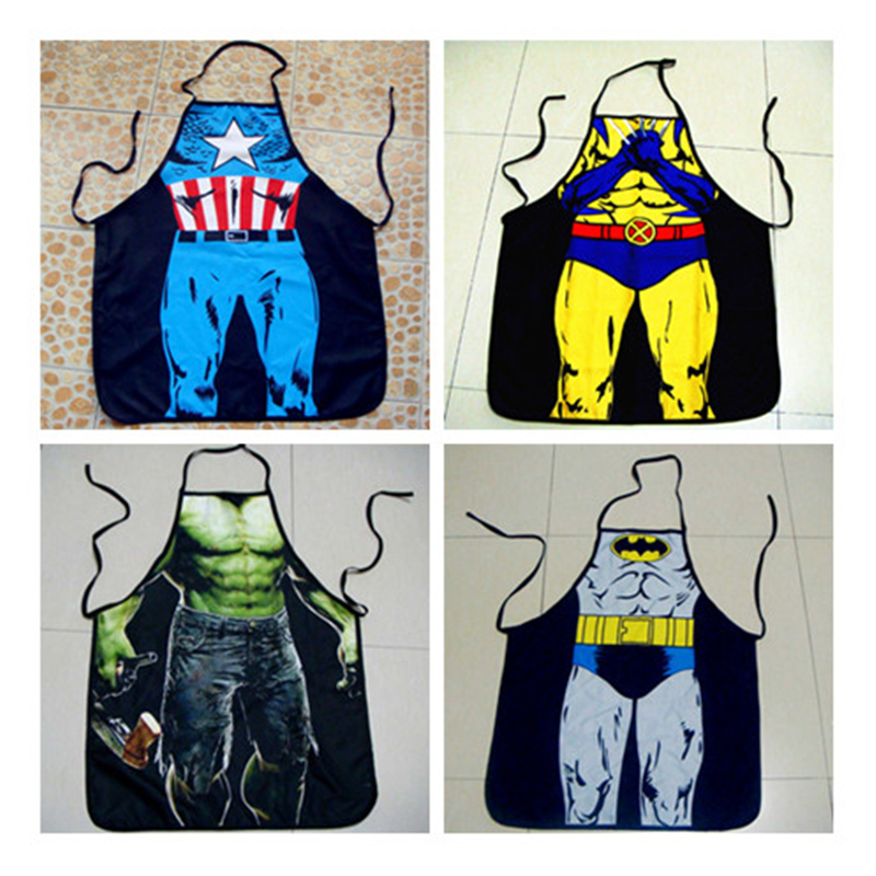 Cosplay American Superman Batman Apron Personality Funny Novelty Creative Couple Party Sexy Gift Gift For Men And Women Apply