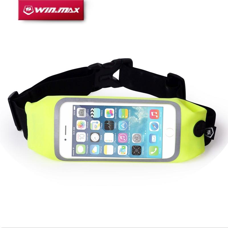WIN.MAX vattentät midja pengar plånbok påse sportpaket vandring fritid mini dragkedja löpbälte för iPhone 6 Plus 5.5