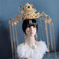 By EMS beautiful empress hair crown model head wear ancient queen cosplay hair accessories stage performance photography