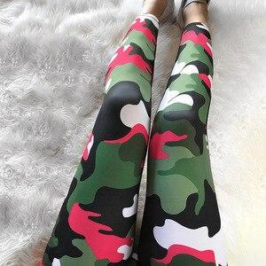 Image 2 - Legging imprimé Camouflage, tissu de haute qualité pour femmes, motif ombré, taille haute, soulevant les hanches, tendance, 2019