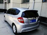 use for 2008 2013 honda fit/jazz spoiler High Quality ABS Material Car Rear Wing Primer Color Rear Spoiler for fit/jazz spoiler