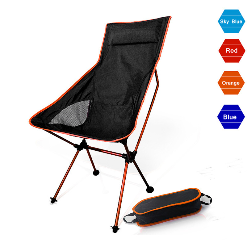 Portable Moon Chair Lightweight Fishing Camping BBQ Chairs Folding Extended Hiking Seat Garden Ultralight Office Home Furniture(China)