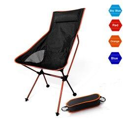 Portátil Luna silla ligera pesca acampar barbacoa sillas plegables de senderismo de jardín con asiento ultraligero oficina muebles para el hogar