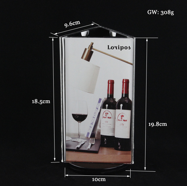 Countertop Stand Menu Sign Holder With Rotating Photo Frame For Price list Menu Signage Graphics Desk Label Price Tag Display
