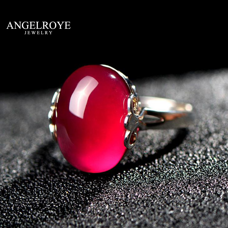 RED RINGS ANEIS DE 925 ANEL ANILLOS RING SILVER JEWELRY FOR WOMEN BAGUES BIJOUX BAGUE FEMME JOIAS FEMININO ANELLI 2017 NEW