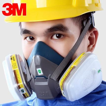 3M 6502 with 6003 Half Face-piece Mask Chemical Respirator Anti Organic Vapor&Acid Gas Respiratory NIOSH&LA Approved LT070 letter print asymmetrical top