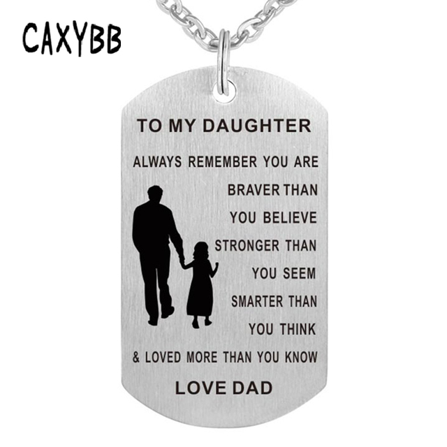 Necklace dog tag stainless steel father daughter pendant necklace necklace dog tag stainless steel father daughter pendant necklace nameplate fashion necklace love gift to my aloadofball Choice Image