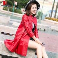 Красно коричневый кожаная куртка с мехом кожаные пальто купить Для женщин модные Кожаные куртки для дамы барашек пальто Черная курточка Дл