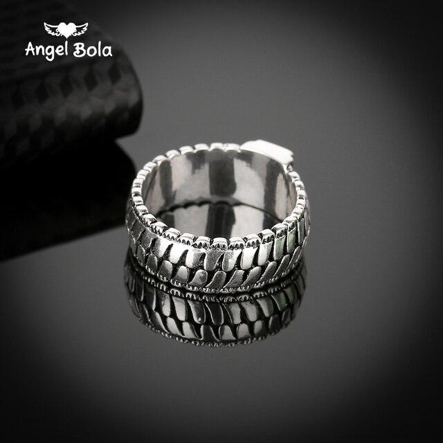 Retro Mannen Sieraden Gothic Ketting Buddha Ring Bliksem Ronde Nieuwe Winkel Oude Zilveren Ring voor Mannelijke Gift Drop Shipping