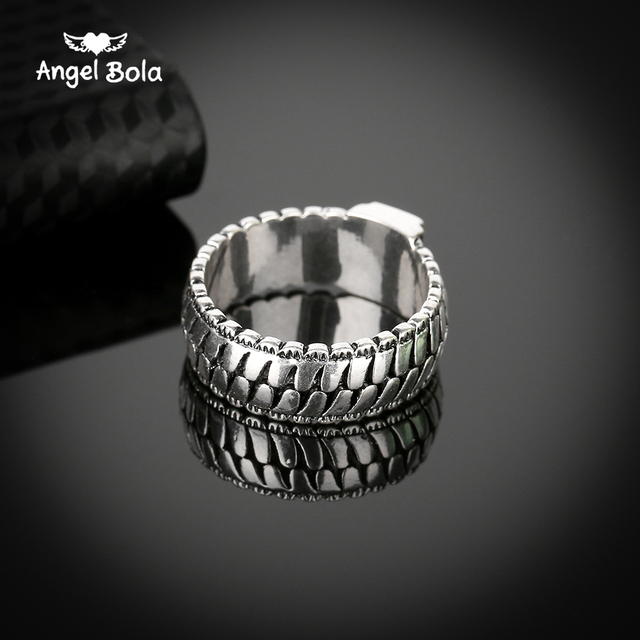 Retro Mannen Sieraden Gothic Ketting Buddha Ring Lightning Ronde Nieuwe Winkel Oude Zilveren Ring voor Mannelijke Gift Drop Verzending