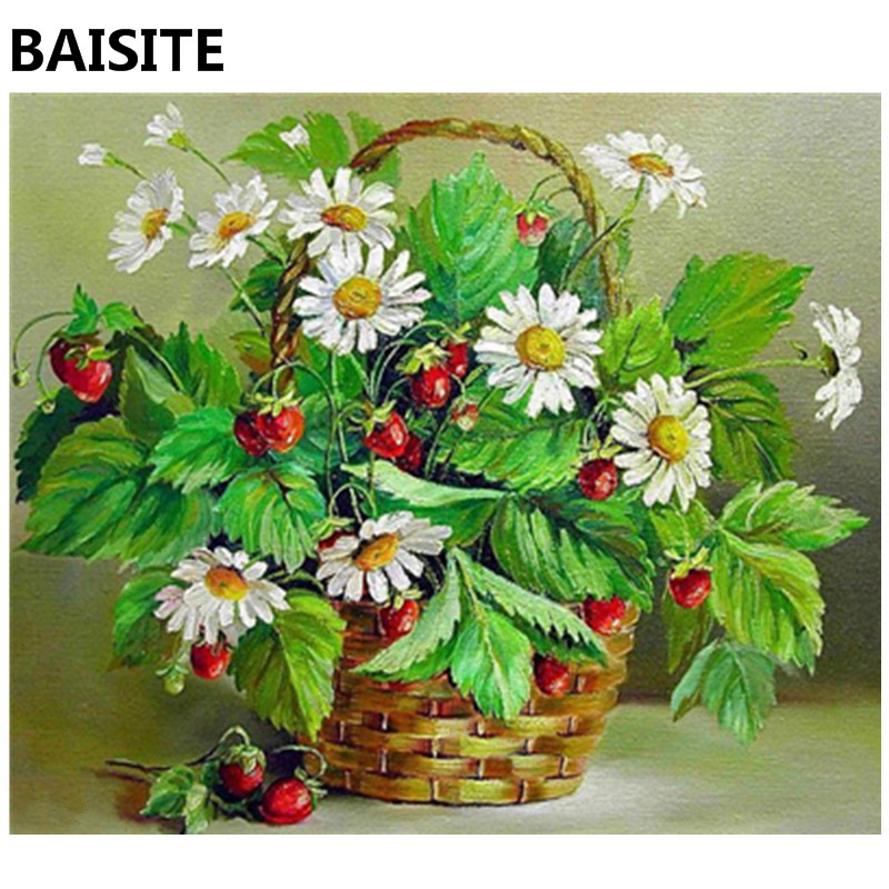 BAISITE Frameless DIY Oil Painting Pictures By Numbers On Canvas Wall Pictures Wall Art For Living Room Home Decoration 969