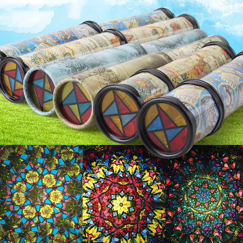 Scalable Rotation Kaleidoscope 30cm Magic Changeful Adjustable Map navigate Fancy Colored World Toys For Children Autism Kid