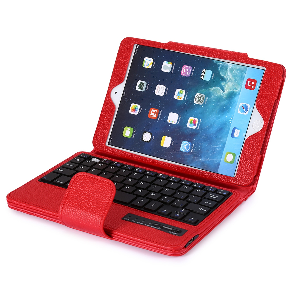 2 in 1 Bluetooth 3.0 Keyboard PU Leather Tablet Case for ipad mini 2 3 Full-body Protective Case Cover with Stand Holder
