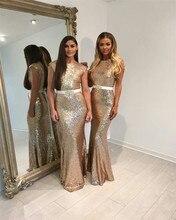 Wholesale gold sequin bridesmaid