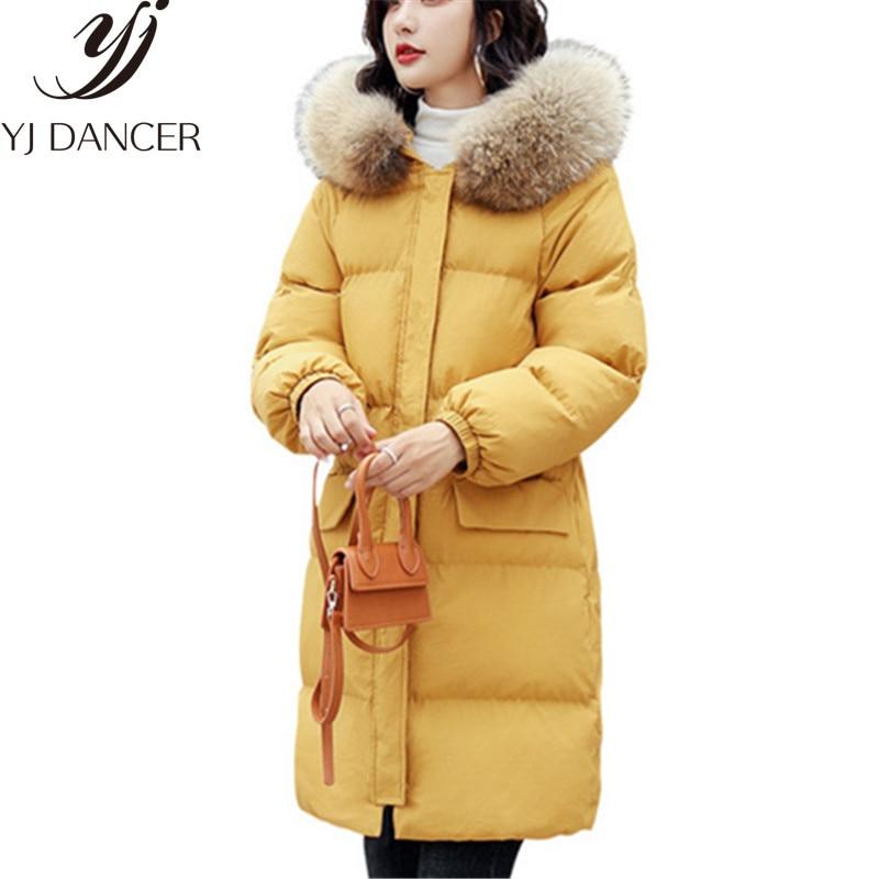Fourrure Yzh672 De Section Longue Vers Mode Black Femmes Chaud Col Nouveau Manteau Rembourré Le pink Coton D'hiver Veste yellow 2018 Bas YxqIpT81