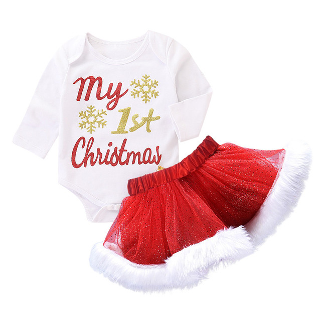 20fa0ff4c Christmas Infant Baby Girls Outfits Set Fashion Letter Long Sleeve O ...