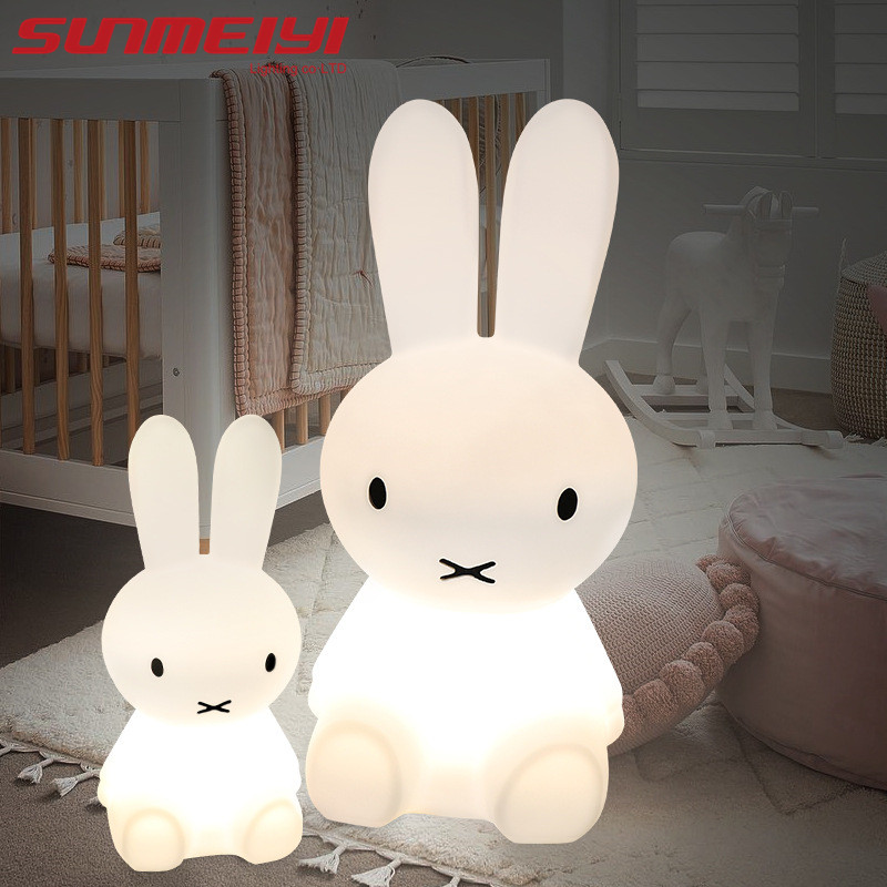 Rabbit Night Light Led Lamp Dimmable for Baby Children Kids Gift Animal Cartoon Decorative Bedside Bedroom Living Room 50CM/80CM creative cartoon baby cute led act the role ofing boy room bedroom chandeliers children room roof plane light absorption