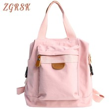 Canvas Women Fashion Backpacks Luxury Casual Backpack Unisex Cute To School For Travel Shoulder Large Cloth Bag With Zipper cute fruits watermelon pineapple printed women casual backpacks teen travel students zipper shoulder school backpack