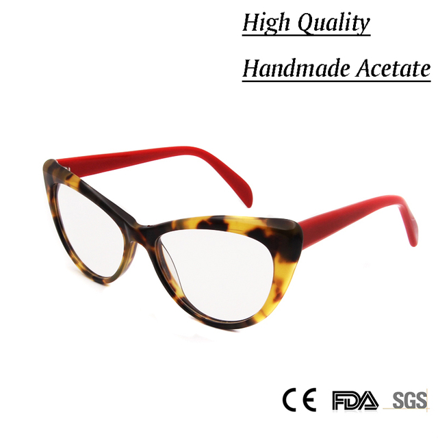 NEW Women Luxury Cat Eye Handmade Glasses Brand Deisgner Vintage Prescription Eyeglasses Optical Frame Lady Eyewear Oculos