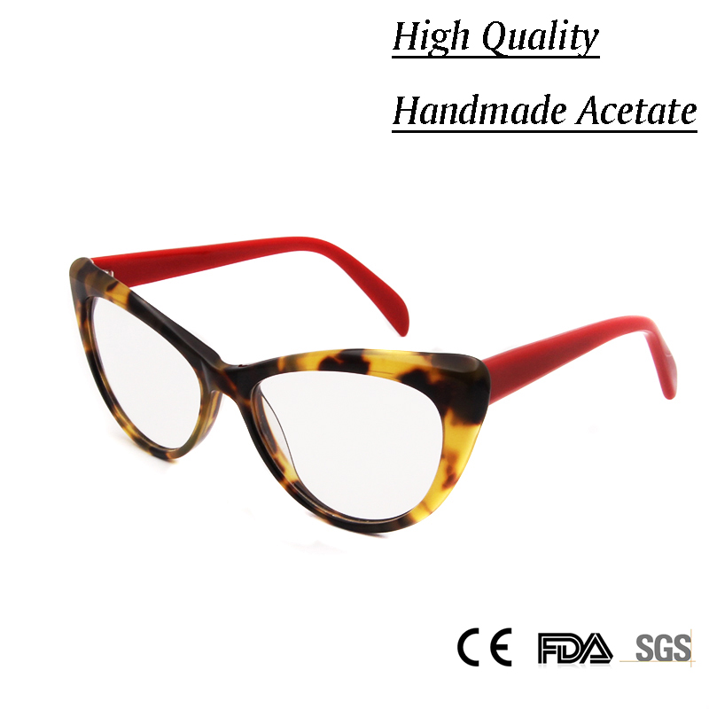 f1296eb75a Sorbern Women Luxury Cat Eye Handmade Glasses Frame Female Brand Designer  Sexy Optical Women s Eyeglasses Frame Clear Lens