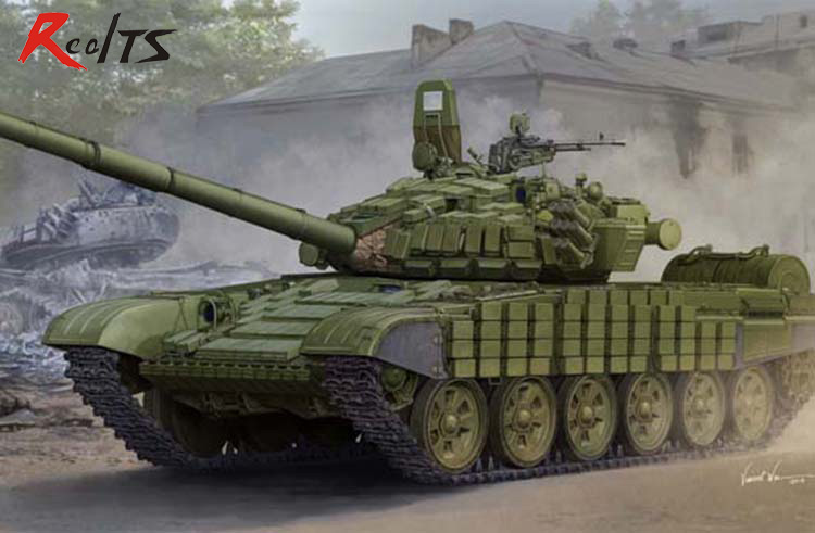 RealTS Trumpeter 05599 Russian T 72B B1 battle tanks linked contacts 1 additional armor