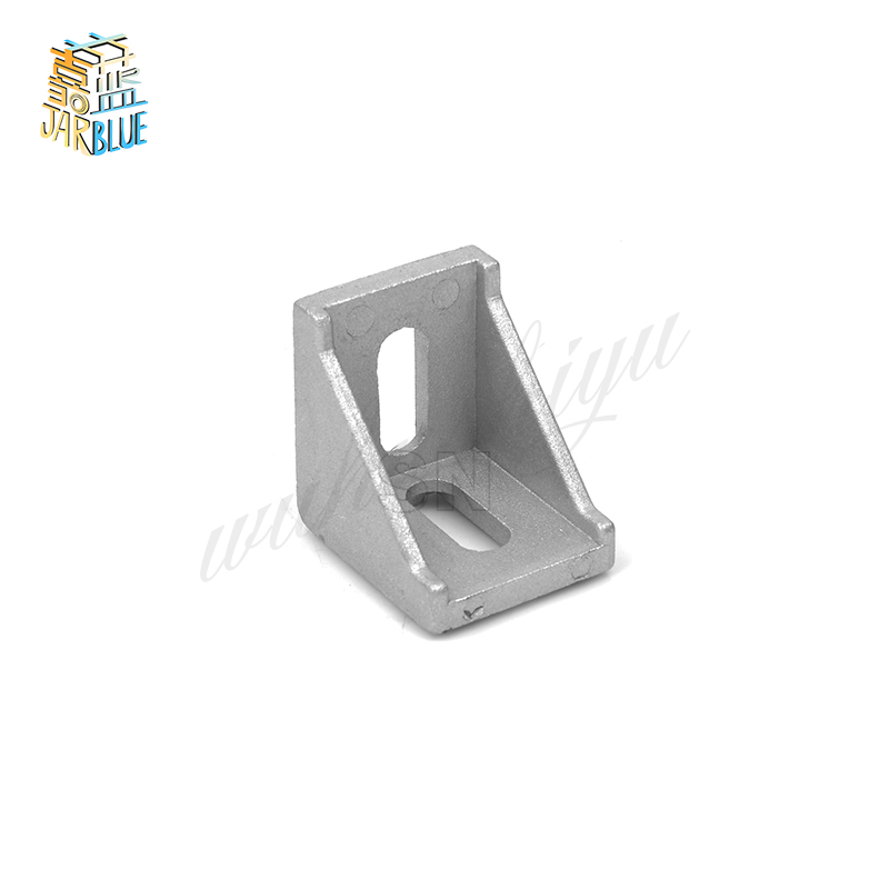 20Pcs 2020 Corner Fitting Angle Aluminum 20 X 20 L Connector Bracket Fastener Match Use 2020 Industrial Aluminum Profile A02 20pcs 4040 corner fitting angle aluminum 40 x 40 x 35mm connector bracket fastener match 4040 industrial aluminum profile