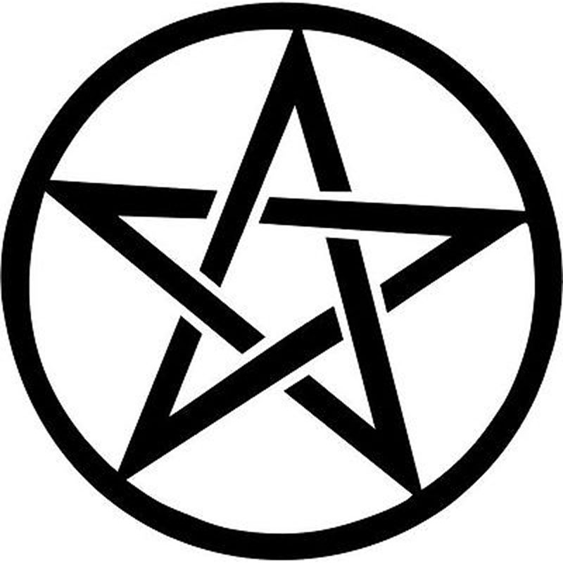 11cm*11cm Pentagram Star Symbolic Fashion Vinyl Decal Motorcycle Car Sticker Black/Silver S6-3607