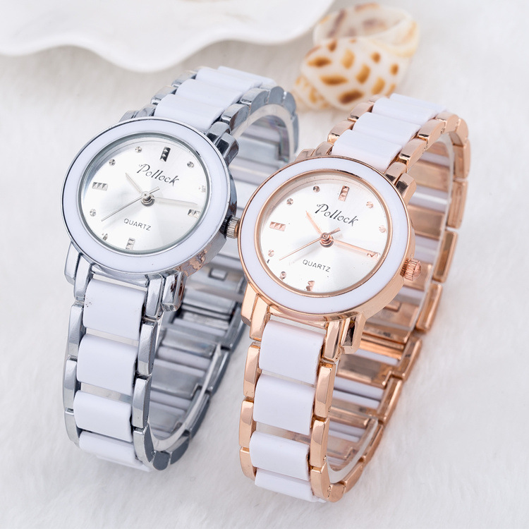 TOP watch 2016 New Fashion Quartz Watch famous Brand Luxury Crystal Diamonds Ceramic Rose gold Watches Women Reloj muje 2016 classic new fashion simple style top famous luxury brand quartz watch women casual leather watches hot clock reloj mujeres