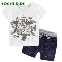 2017 summer baby boys clothing set kids children s korte T shirts Shorts 2pcs Sets Discovery