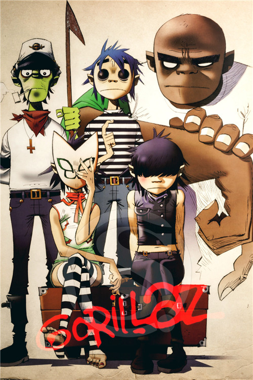 Kids Fall Wallpaper A 247 Custom Gorillaz Amp J Home Decor Fashion Modern For