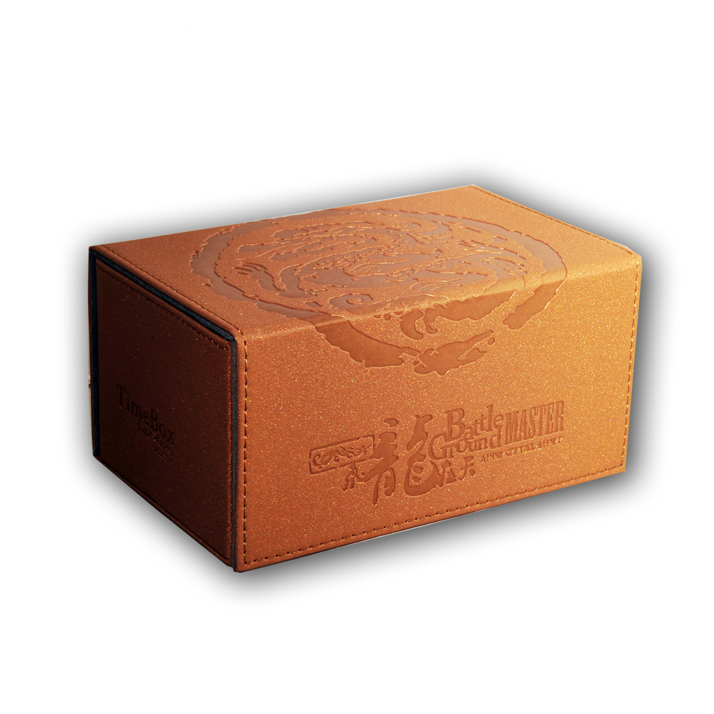 TW Hand Made Genniue Leather Opposite Open Cards Box Royal Dragon Seal Deck Case Suitable For MGT/YGO/PKM/CFV Holding 180 Cards